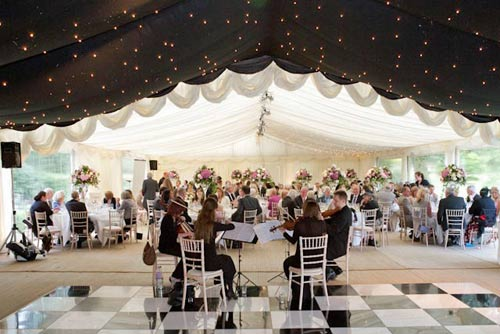 Lined Clear Span Marquee Hire Gallery For Weddings