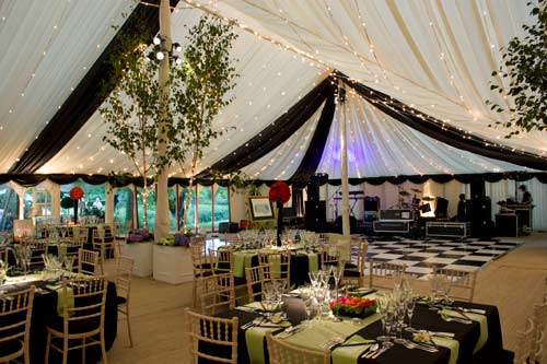 Lined Traditional Pole Marquee Hire Gallery For Weddings