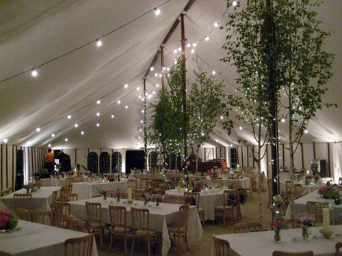 Interior And Exterior Lighting Effects For Wedding